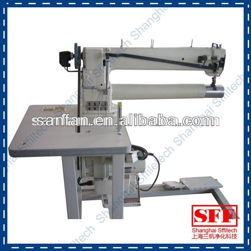 long arm double needle sewing machine for industrial use