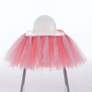 Nette high stuhl tutu rock dekoration für babys 1st birthday party