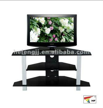 Black Glass Corner Tv Stands