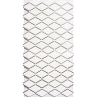 Buy HSL25 Customized Glass Tile Rombus Mosaic Cubic White 3D ...