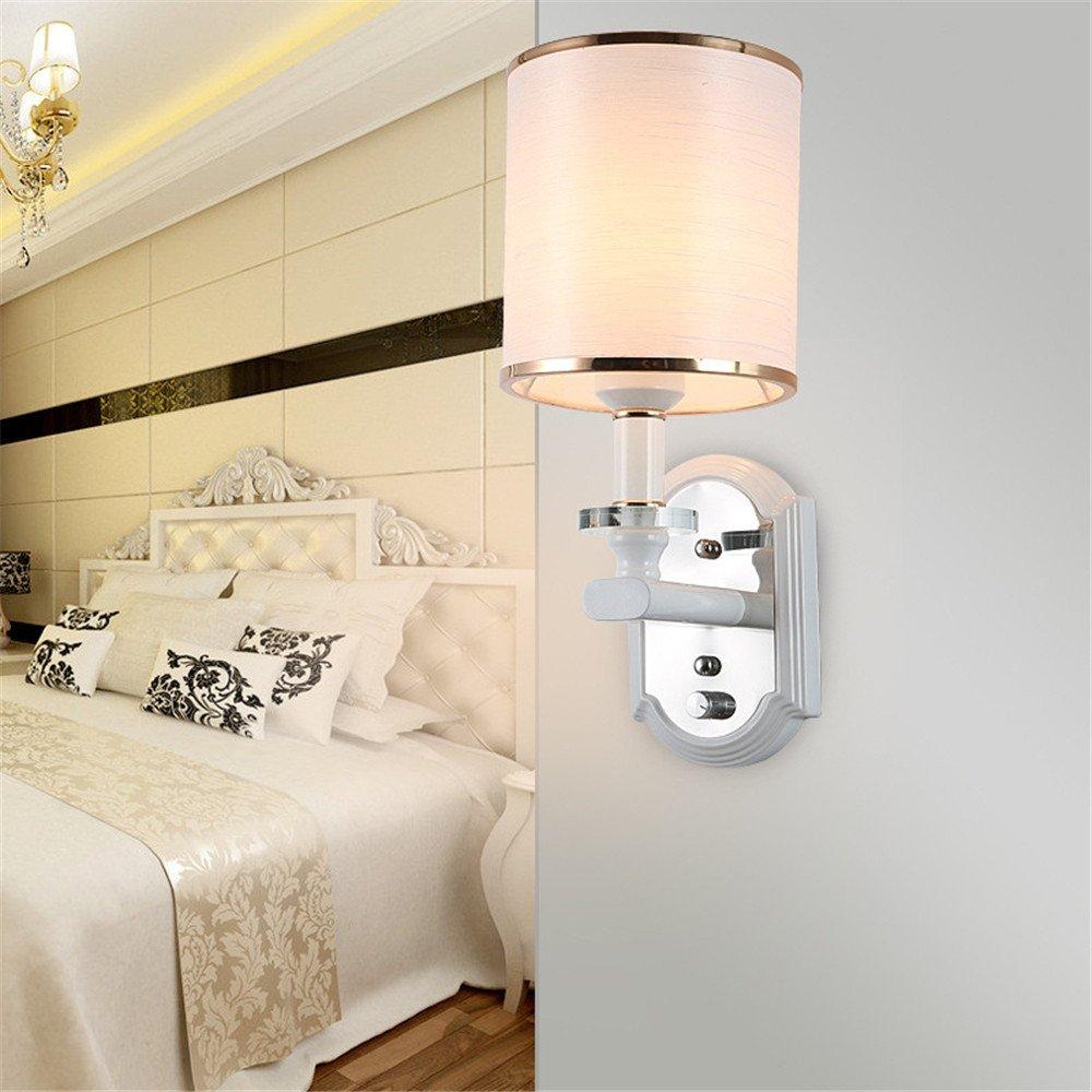Wall lamp Creative Wall lamp modern simple wall lamp bedroom bedside lamp light adjustable hotel wall lamp Project single head glass wall lamp Corridor lamp/15x35cm