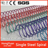 Nylon Coated Single metal Book Binding spiral wire with good material
