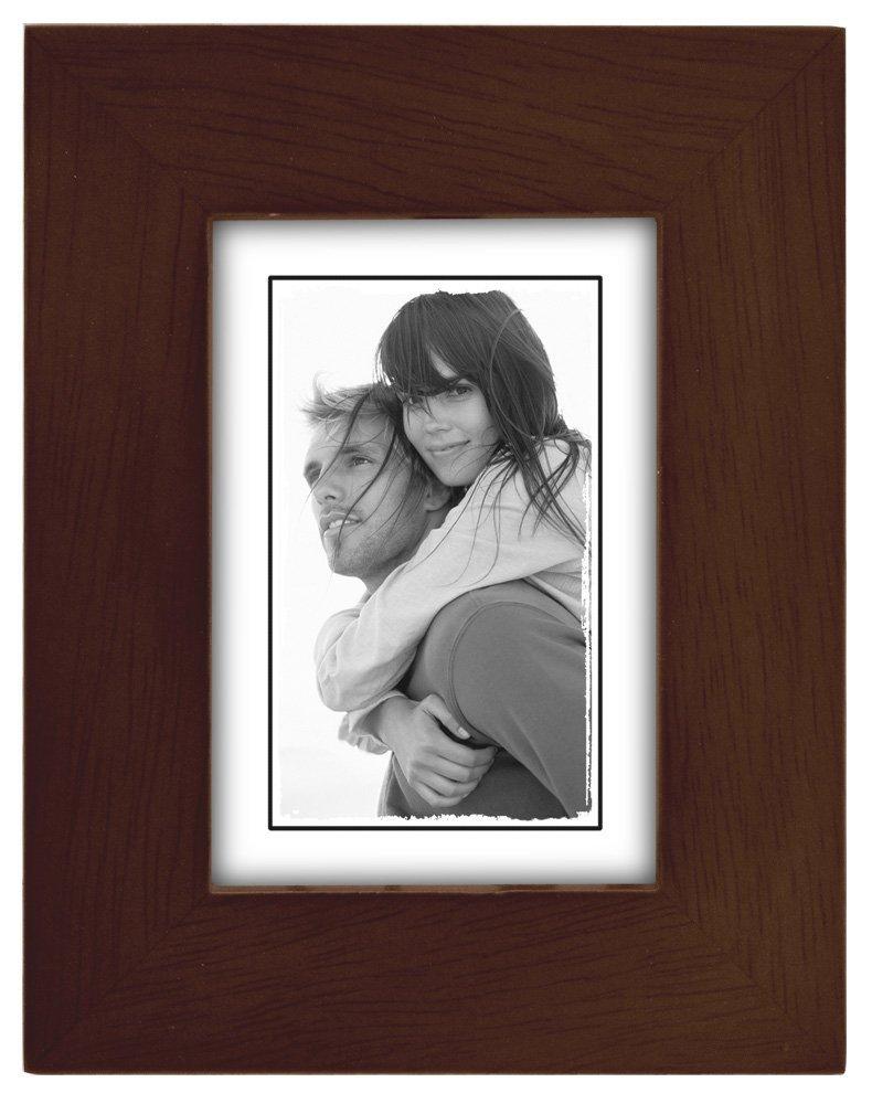 Malden International Designs Linear Wood Picture Frame, 2 by 3-Inch Espresso Walnut