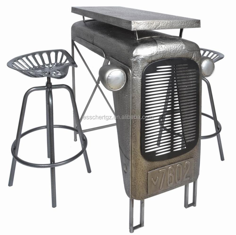 Mobili bar trattore bar tavolo di metallo industriale dell'annata ...