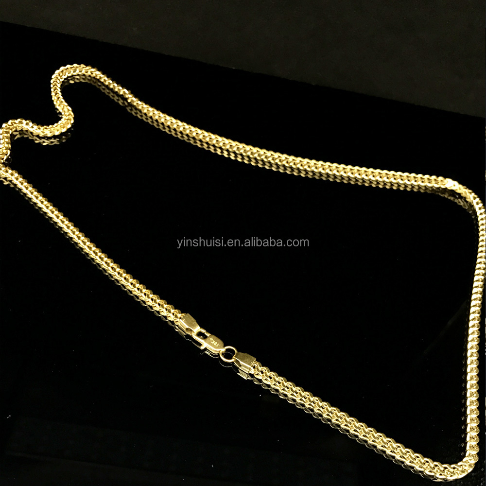 chains gold nice chain men necklace asian pin pure solid s