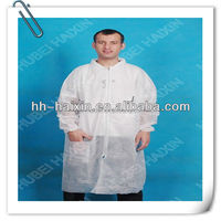 protective antistatic waterproof disposable doctor white lab coat
