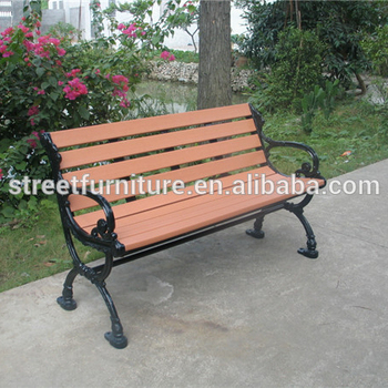 Recycled Plastic Park Bench Wrought Iron Outdoor Bench Cast Iron