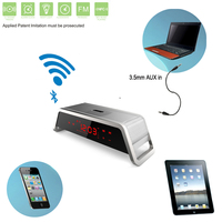 Alarm Clock with FM Radio,Speaker Bluetooth,touch screen,support tf sd card usb flash drive play