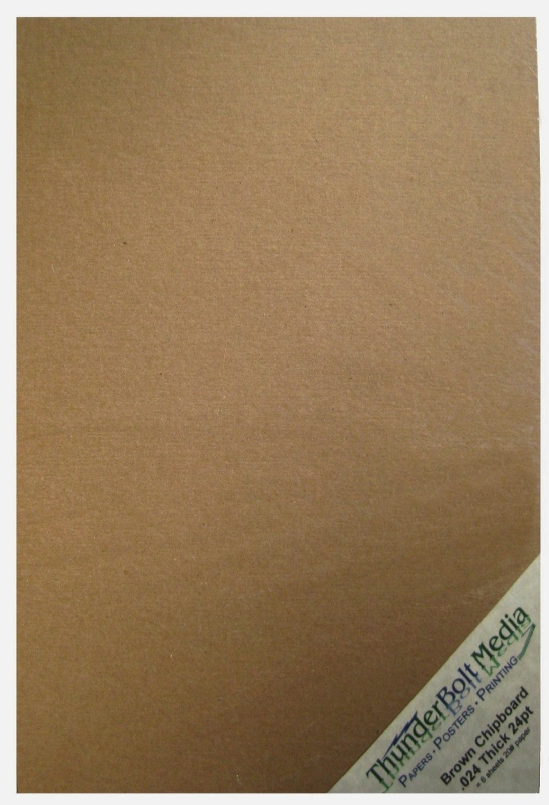 5 X 7 Photo Card Frame Size 5X7 Inches 25 Sheets Chipboard 24pt White 1 Side Point Light Medium Weight Thickness PaperBoard .024 Caliper White Coated Cardboard Paper