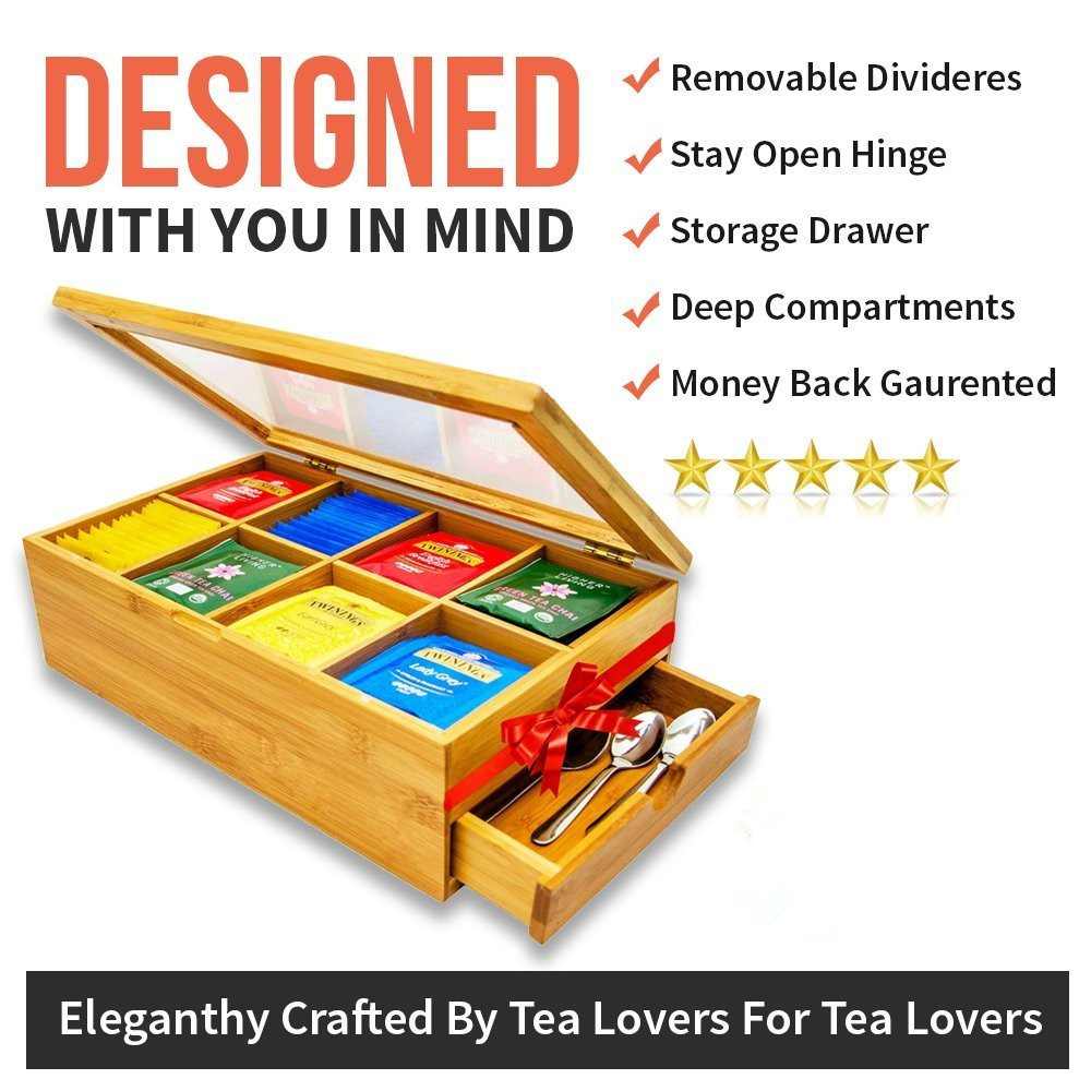 Organic Bamboo Tea Box For Sale With High Quality And Competitive Price