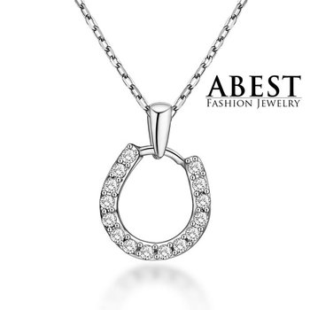Elegant Pendant Beautiful White Zircon 925 Sterling Silver Light Weight Fashion Design Jewelry Wholesale
