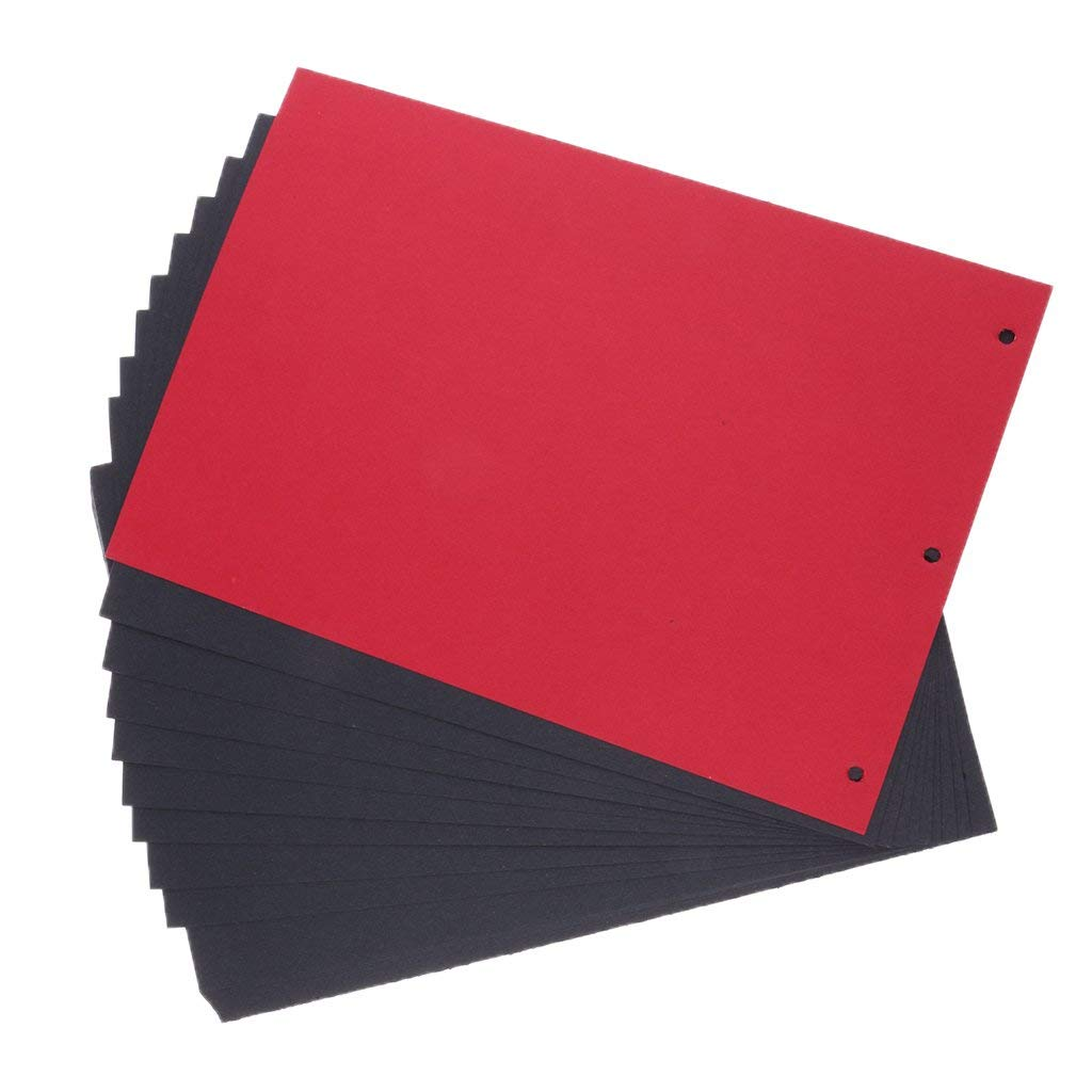 ROSENICE Album Refill Pages Black Scrapbook Paper 30 Sheets 18 26.3CM for Scrapbook