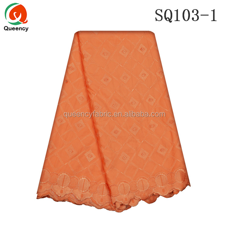 SQ103 Queency Handcut African Voile Fabric London Swiss Lace Made in China