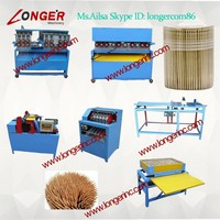 wooden toothpick making machine