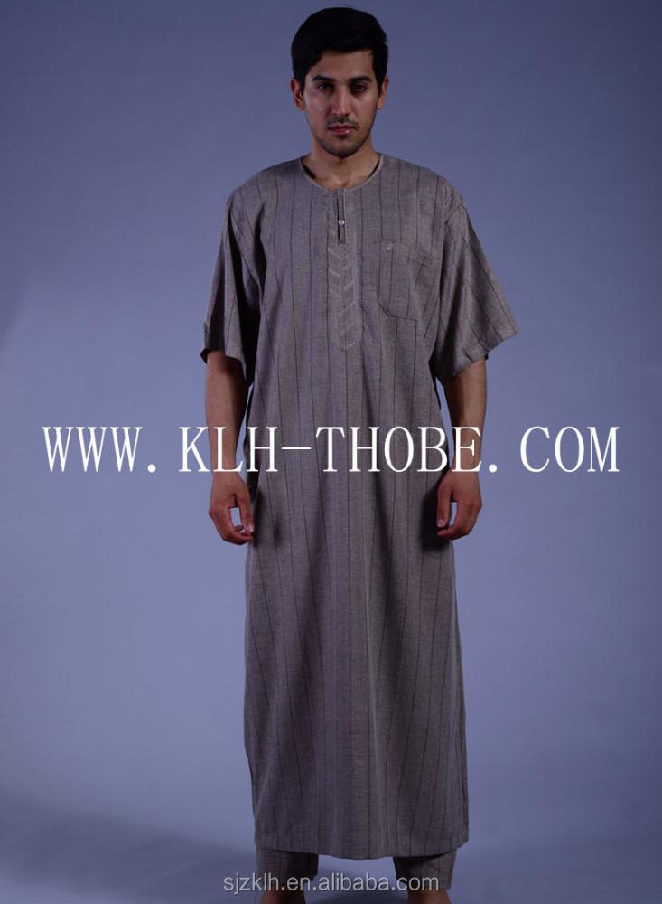 Men Islamic Clothing Arabic Thobe Kaftan Abaya Dishdasha Jubba ...