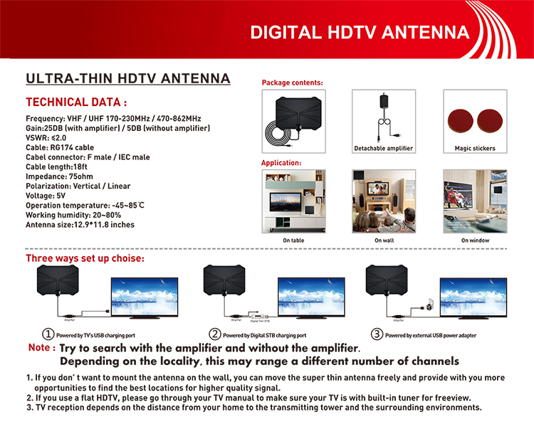B2GO Dove acquistare antenna tv TV-C00015 Digital HDTV Il cavo dell'antenna antennaFreeview 4 K 1080 P HD VHF UHF