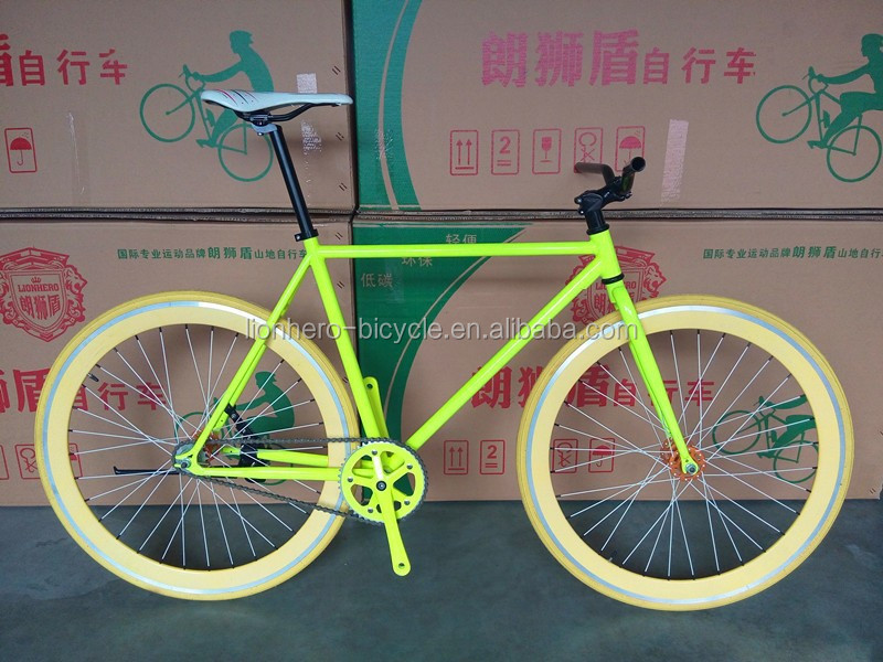 2015 new style alloy rim colorful road bike/bicycle fixed/fixie gear bike , single gear speed