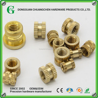 High Quality Brass Knurled Nuts M3*6mm/Metric Threaded nuts