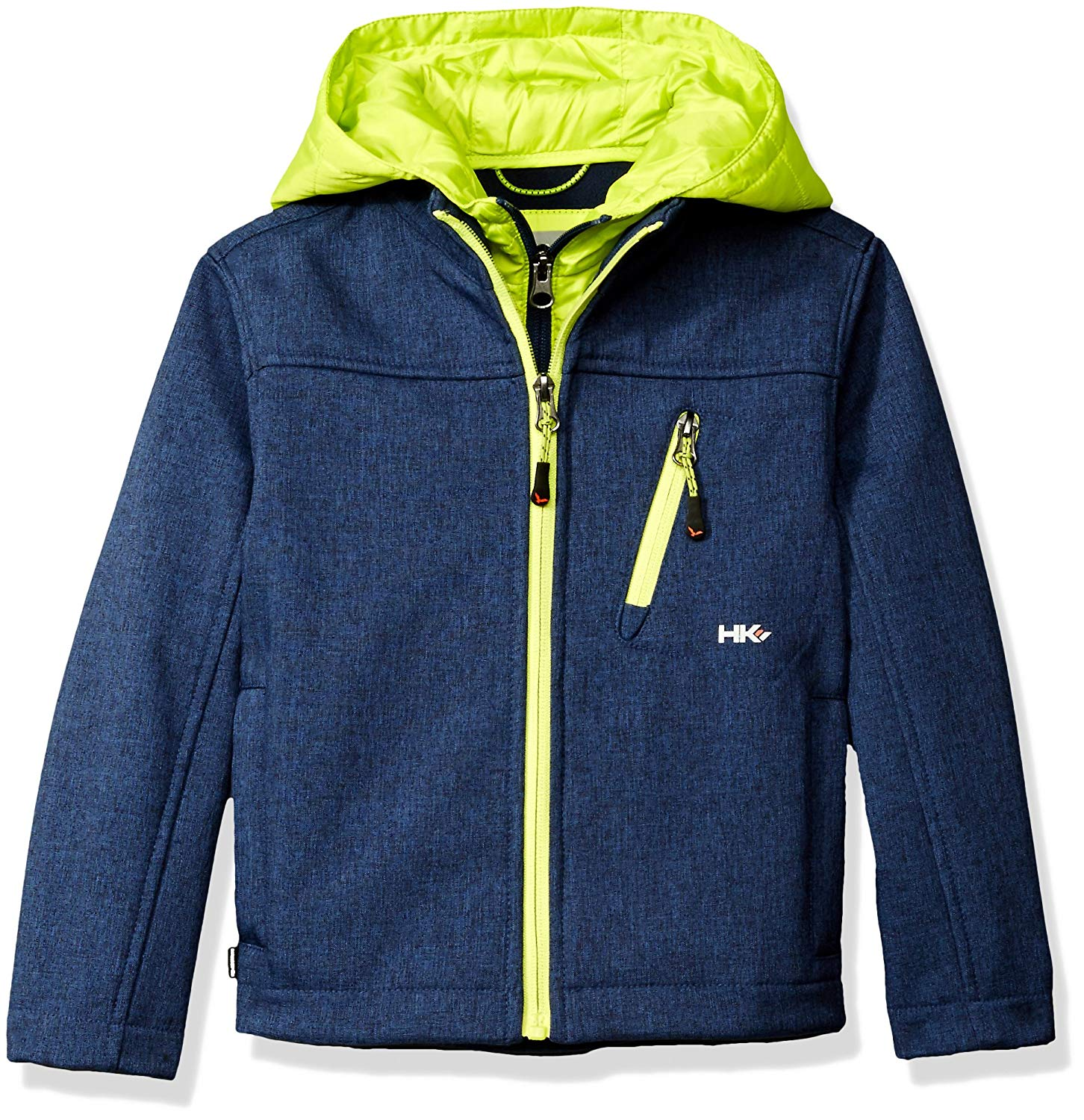 Hawke & Co Boys' Soft Shell Jacket with Quilted Vestee and Hood