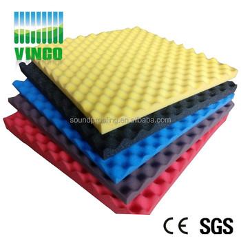 714a381742b 50mm alta densidad cáscara de huevo onda espuma acústica sonido esponja  absorbente de interior decorativo control
