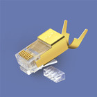 Big insulation hole FTP CAT6A plug shield rj45 cat6a connector to make patch cord