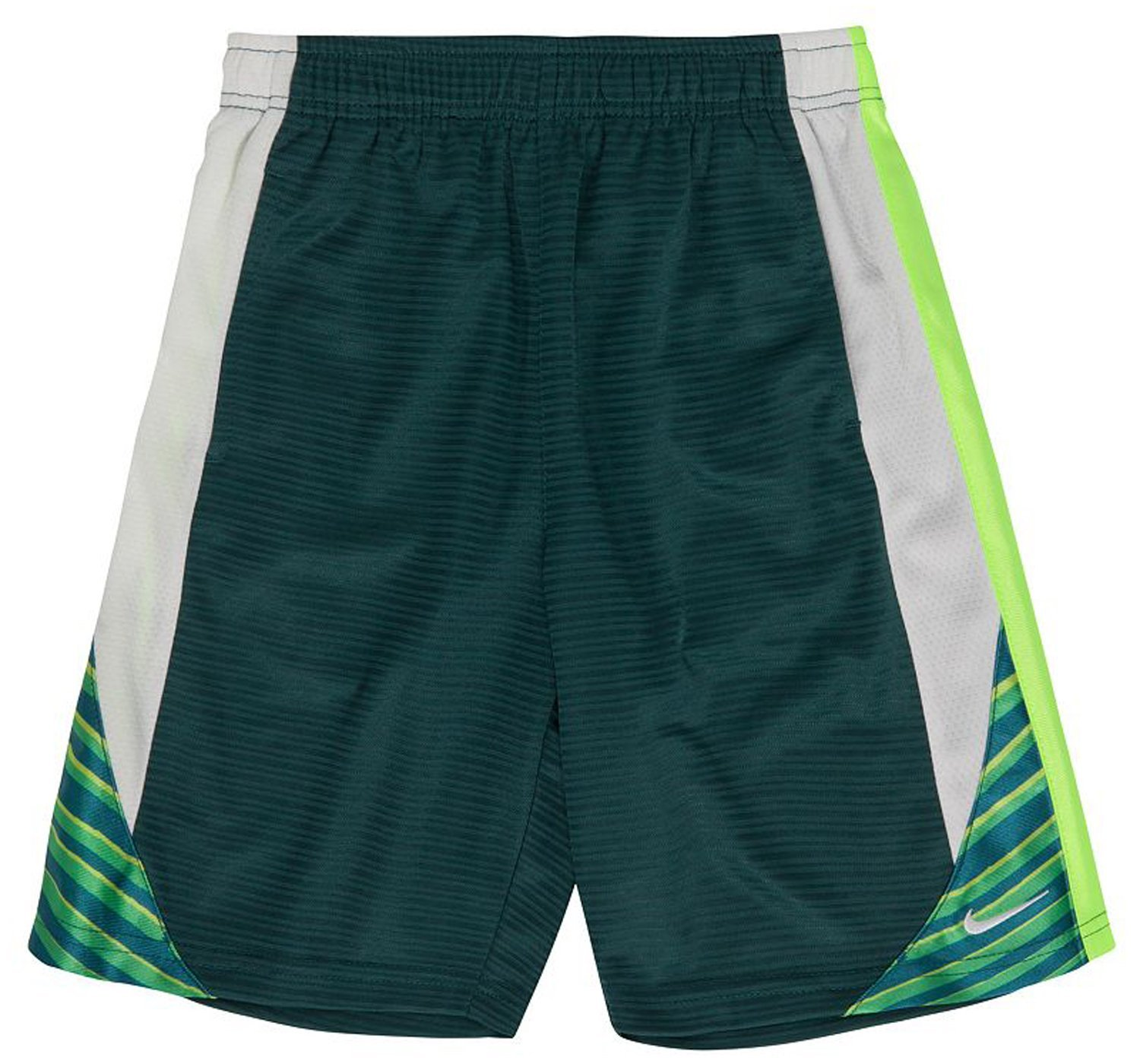709eea384b27 Get Quotations · Nike Little Boys  Green White Athletic Shorts