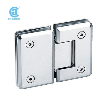 Bathroom Heavy Duty Glass Door Hinge Bevel Circinal Angle 180