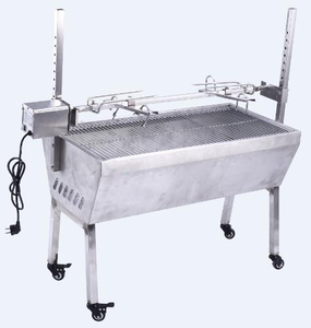 Outdoor Garden All Stainless Steel Lamb Rotisseries BBQ Grill Spit Roaster with Windscreen