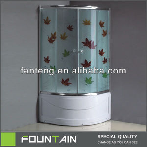 High Tray Bathtub Popular India Modern Shower Room with ABS Tray