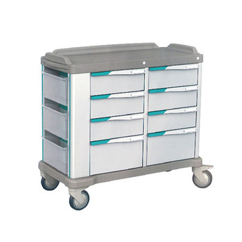 2018 New Products Medical cart ABS Trolley Luxurious emergency trolley with wheel
