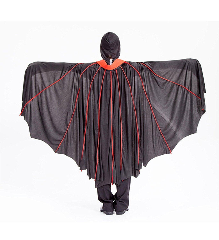 micrkrowen Halloween party cosplay mask black grim Reaper vampire Bats loaded