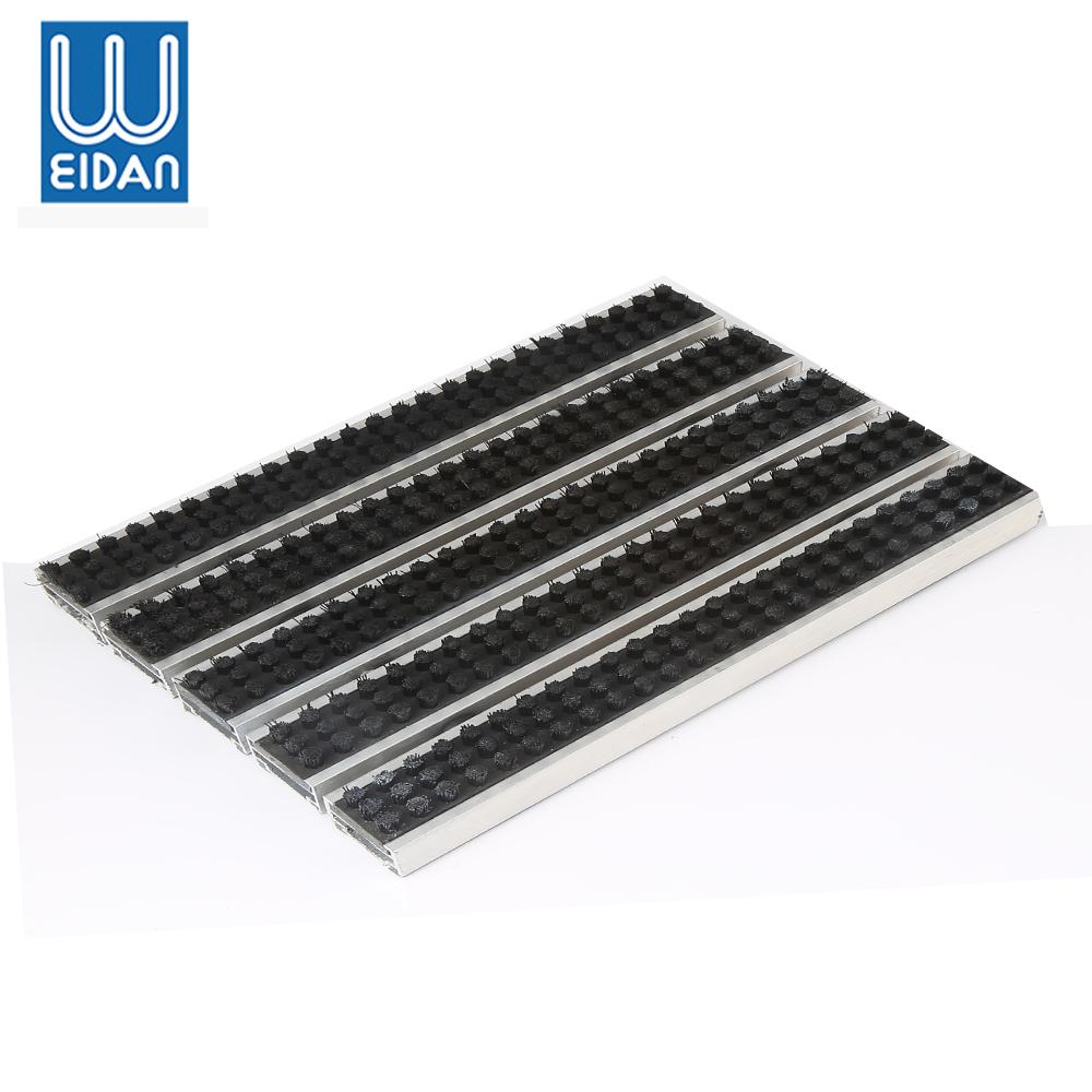 알루미늄 frame 고무 바 brush surface 발 청소 mat 문