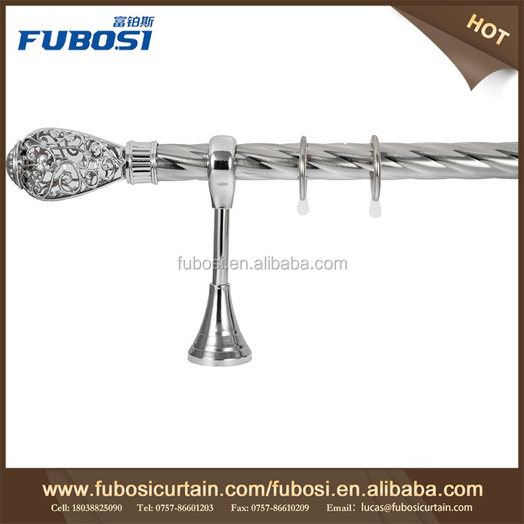 Curtain rods and rails double curtain rod