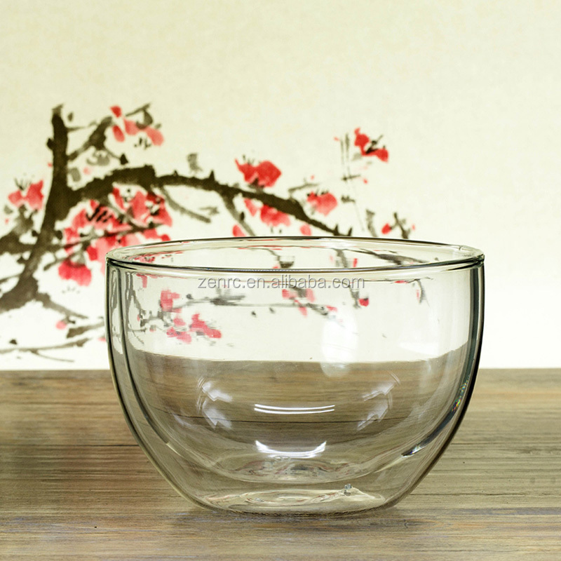 550ml Large Double Wall Glass Matcha Tea Bowl