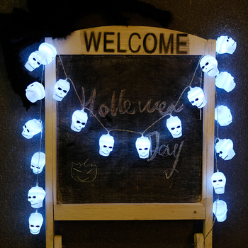 China Factory Supply Led Skull Light Commercial Halloween Decorations