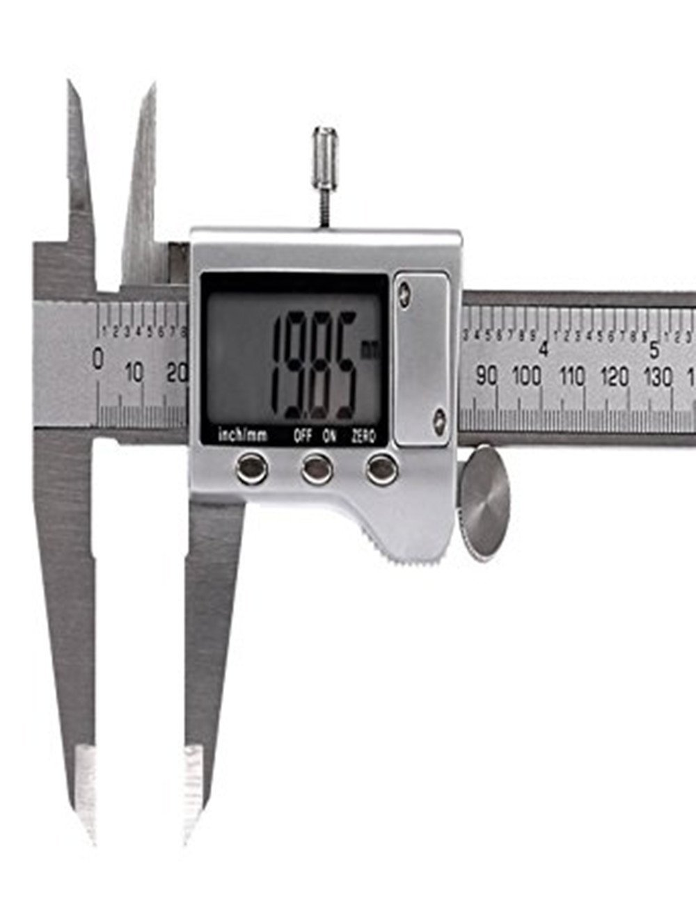 Digital Vernier Caliper with Extra-Large LCD Screen, Stainless Steel Caliper Measuring length 150 mm/6 Inch Electronic Vernier Caliper Measuring Tool IP54 Water Resistant High Precision Argent