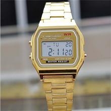 2016 nova moda ouro prata casal Silicone relógio digital Watch praça militar dos homens / mulheres vestem esportes relógios whatch mulheres
