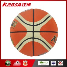 Kansa-8602 Hot Sale Professional Match Standard Leather Basketball Balls Size 7 Indoor