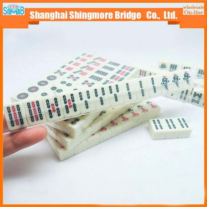 2017 alibaba china supplier cheap sales good quality 144 pieces mini travel mahjong