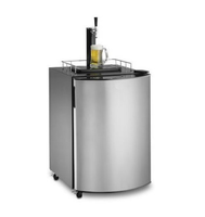 128L 170L Black And Stainless Steel Automatic Beer Dispenser Keg Fridge Beer Draft Beer Cooler With UL CE RoHS