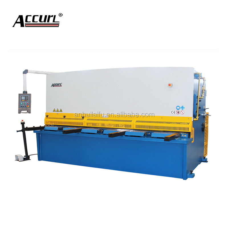 Accurl new desigh swing beam cutting machine MS7-4X2500 hydraulic NC shearing machine with KACON foot switch from South Korea