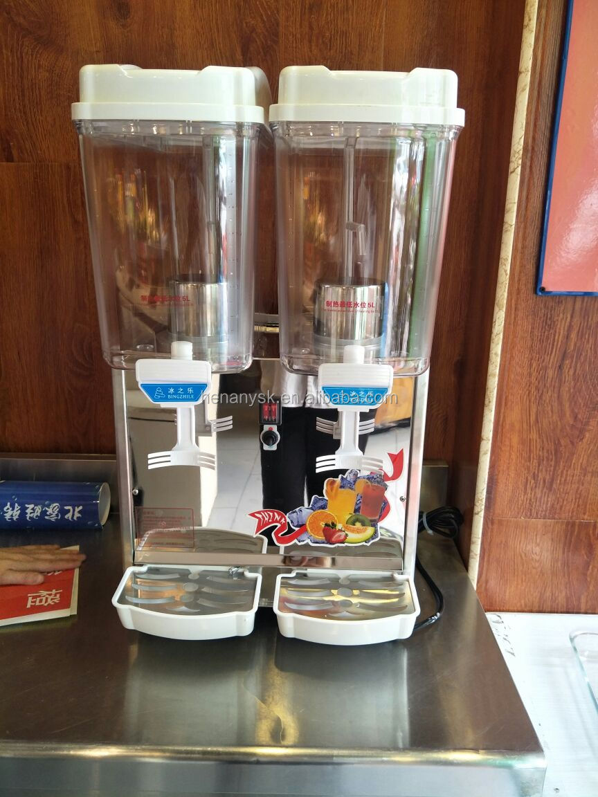 PL-234A Double Warmer / Cold 2 Flavor Soft Cold Drink Juice Dispenser Machine