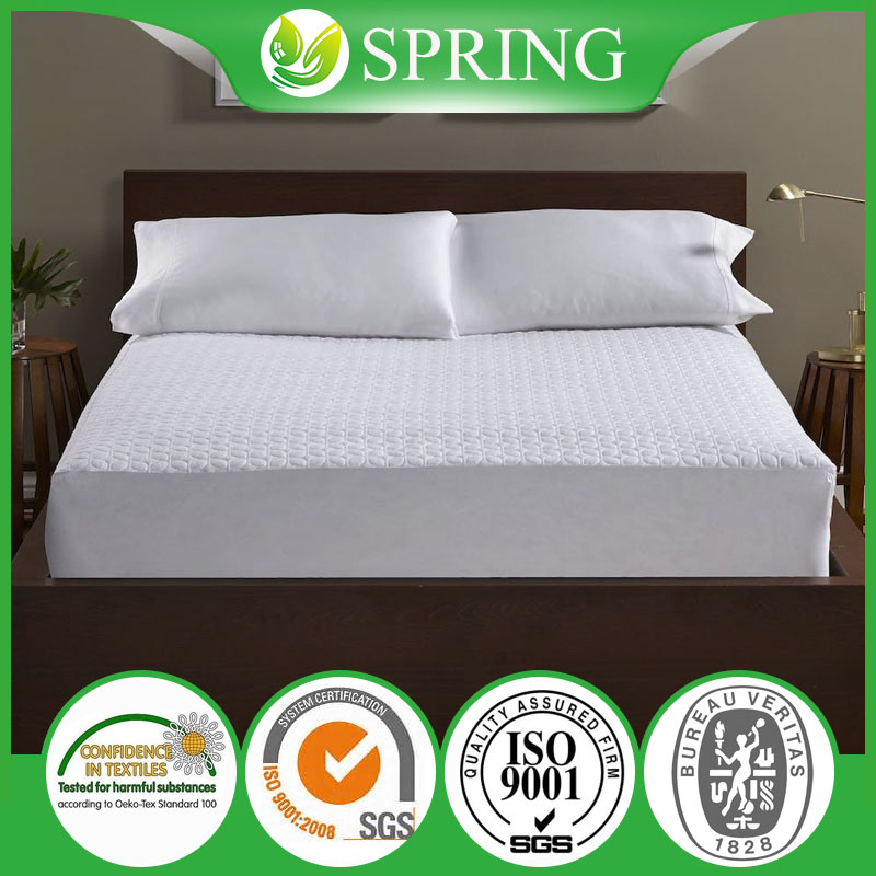 Queen Size Fitted Bed Sheet Mattress Topper Protector Coolmax Cover Waterproof vinyl free JN-1706024