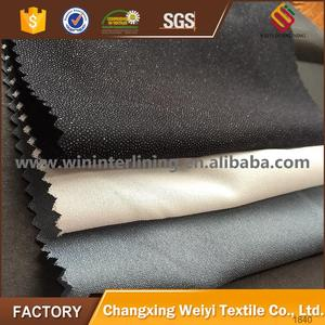 100% Polyester Plain Woven fusible interlining fabric for garment