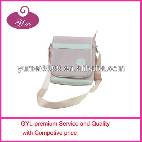 NEW COME pink and white shoulder bag for girl