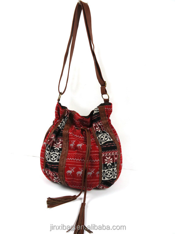 Newst ladies cheap Jacquard cloth mk bag