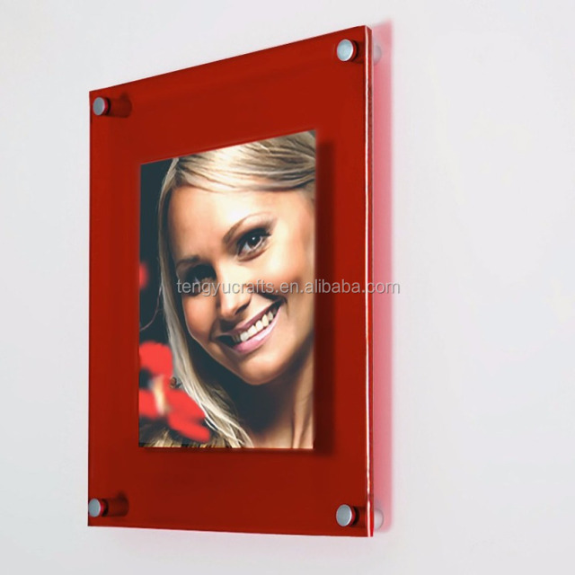 custom size picture stand display lucite dual plate wall mounted clear acrylic magnet photo frames with  sc 1 st  Alibaba & wall plate display stand-Source quality wall plate display stand ...