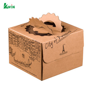 Recycle Folding Empty Custom Printed Carton Party Food Cake Bread Paper Packaging Box With Logo