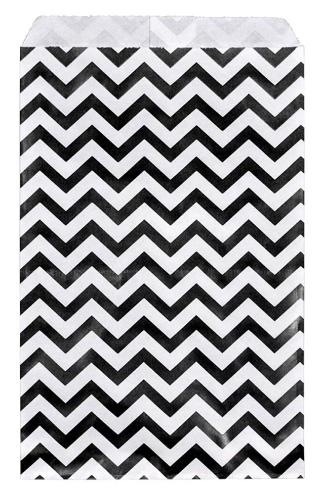 Get Quotations · 200 pcs Black Chevron Paper Gift Bags Shopping Sales Tote Bags 6  x 9  & Cheap Black White Gift Bags find Black White Gift Bags deals on ...