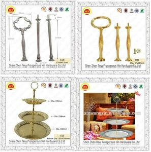 High quality gold cake stand metal handles and fittings for DIY
